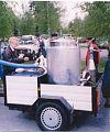 Подача газа в двигатель осуществляется через выхлопную трубу