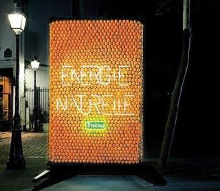 Апельсиновый рекламный щит