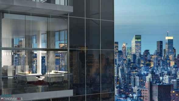 Фасады из 14-футовых стеклоблоков