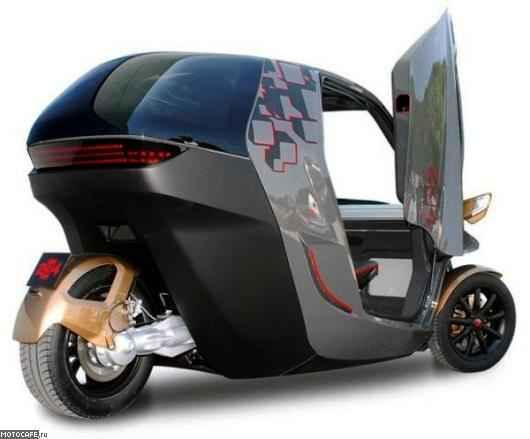 Трехколесный электромобиль KTM E3W