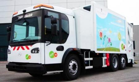 Экологичный электрический мусоровоз