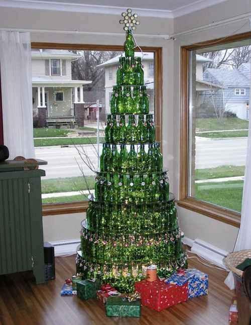 """Новогодняя елка, вариант 6 """"Бутылочная елка"""""""