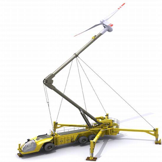 Передвижная ветрогенераторная установка в действии