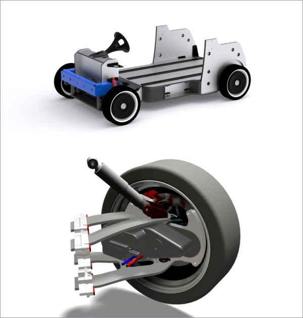 На QBEAK два мотор-колеса и подвеска собственной разработки