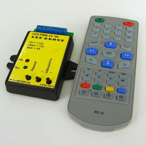Контроллер 3 х 4А с ДУ (IR)