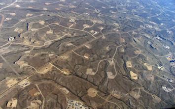 Территория активной добычи сланцевого газа в США