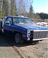 Пикап Chevrolet Fleetside 1500, V8, 5L 1983 года. Газогенератором оснащен в апреле 2009 года.