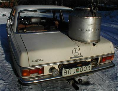 Рис. 4 Багажник разделен на две части Mercedes 248G