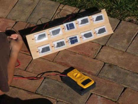 Обычная солнечная батарея из таких же фотоэлементов