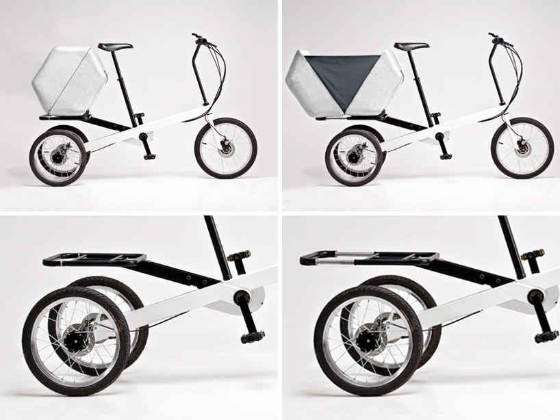 Увеличивающийся багажник у электровелосипеда Vienna bike