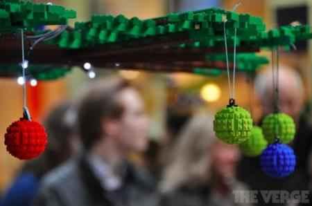 Елочные игрушки так из конструктора Лего