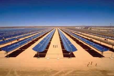 Разрабатывающаяся масштабная сеть солнечных энергетических установок