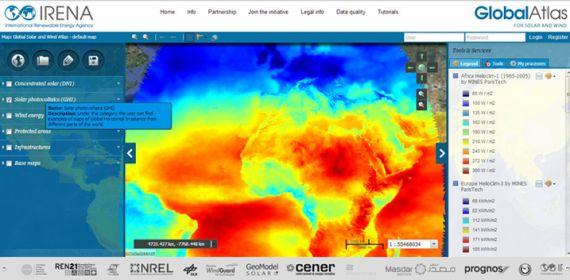 39 стран поддержали Интерактивный Глобальный атлас мира по возобновляемым источникам энергии (Global Atlas for renewable energy)